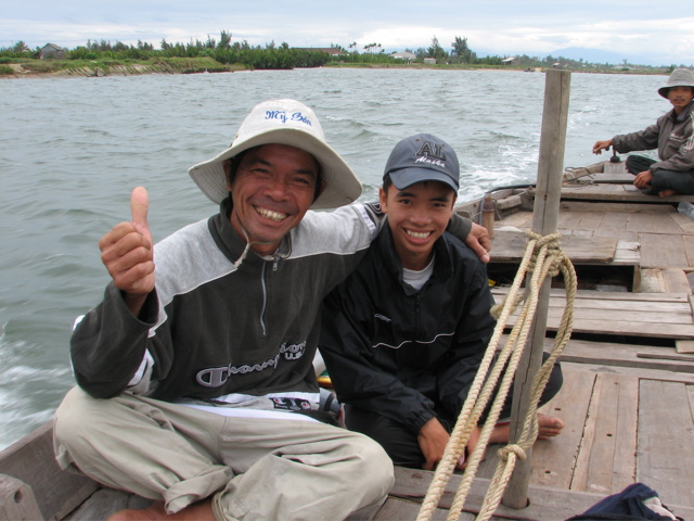 These fisherman showed me the river at Hoi An