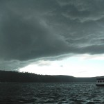 Southerly change coming in over Pittwater